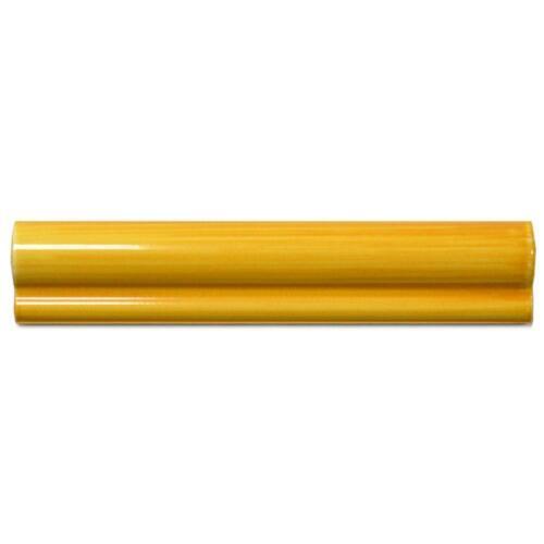Bordüre Nr.107 gelb orange glänzend gewölbt 5 x 25 cm Wulstbordüre