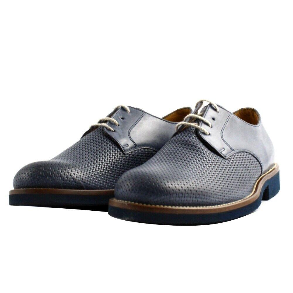 Zapatos Clásicos Soldini Hombre Piel Azul Parcela Cordones Suela de Caucho