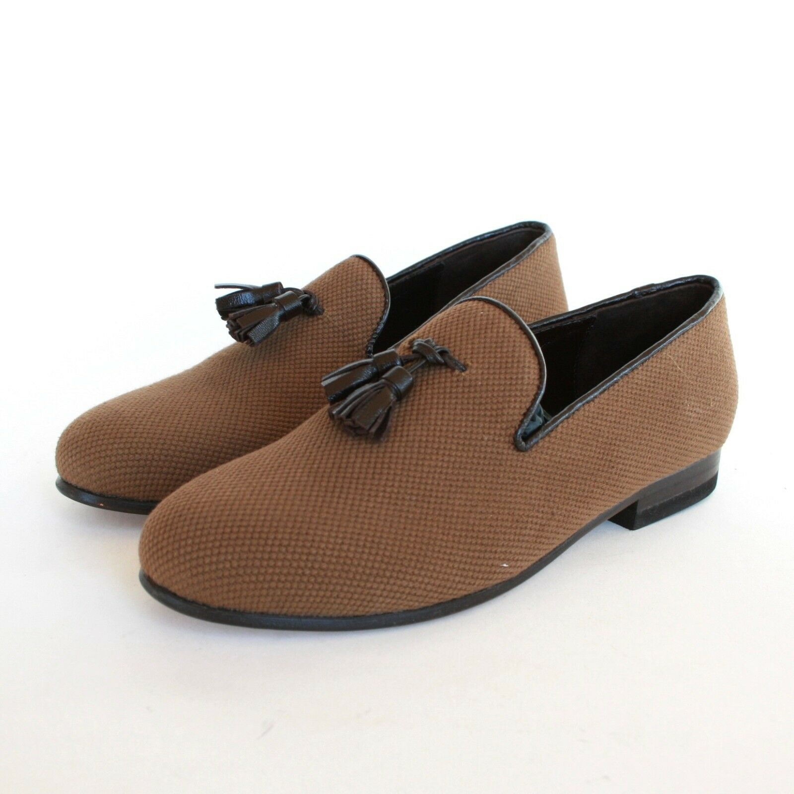 CB CECILIA BRINGHELI  400 canvas shoes tassel flats mocassin loafers 36 6 NEW