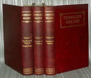 The-Complete-Welder-3-volumes-set-new-circa-1930s-40s-GEORGE-NEWNES-SET