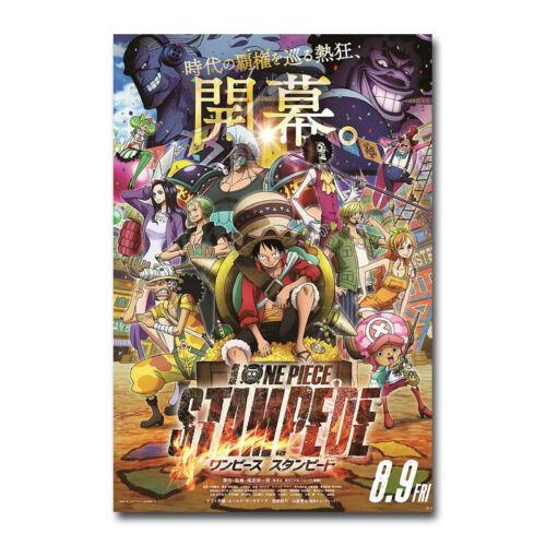 One Piece Stampede Japanese Movie Silk Poster Canvas Home Decor Print 24x36/'/'