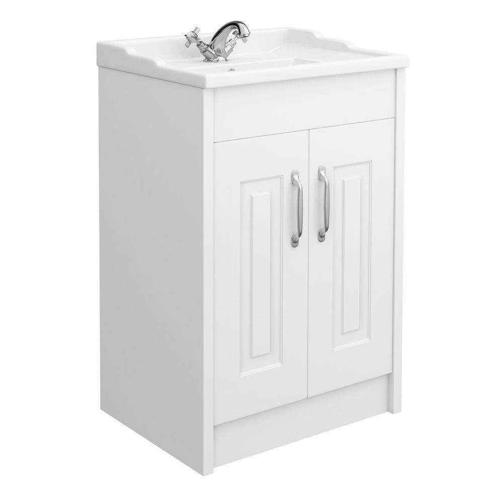 Vanity Unit Bathroom Traditional 600mm 2 Colours Sink