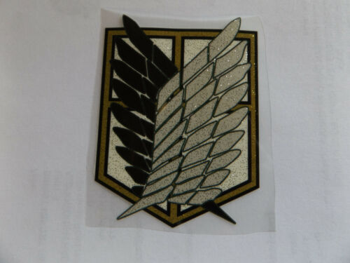 ATTACK ON TITANS JAPANESE MANGA IRON ON SMOOTH HEAT TRANSFER PATCH CLOTHES BAGS