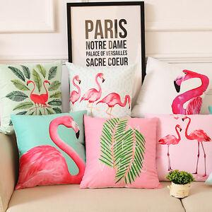 Image Is Loading Flamingo Home Sofa Chair Decor Pillowcase Throw Pillow