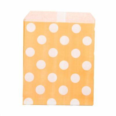 Grand Blanc Pois sur Peach Papier Coloré Sacs X 25