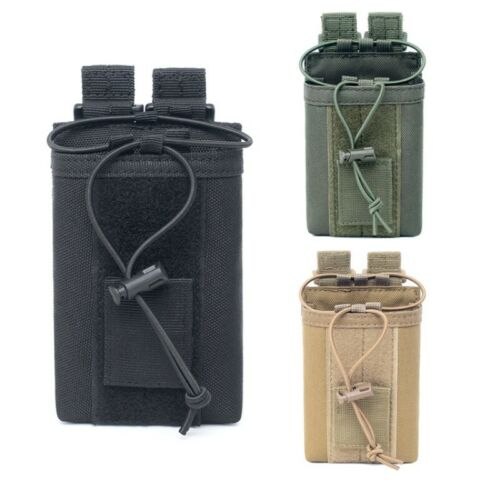 Outdoor Pouch Military Molle Radio Talkie Holder Bag Pocket Mag Pouch