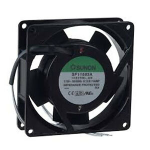 Sunon-92mm-x-25mm-110-120-Volt-AC-Metal-Frame-B-Bearing-Fan-SF11592A-1092HBL