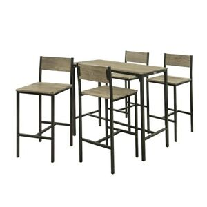 SoBuy Set 1 Table 4 Chaises Ensemble