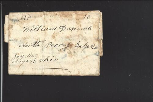 JAY, MAINE 1845 STAMPLESS COVER, RARE DPO FRANKLIN CO. 181549 SR7.