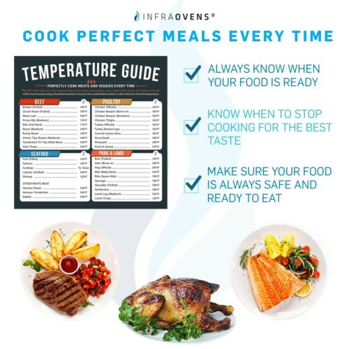 MORE Convection Oven Temperatures /& Time Cheat Sheet Magnets Cuisinart DeLonghi