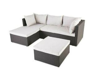 Aldi / Gardenline Light Grey Rattan Corner Sofa + Rain ...