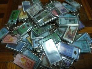 Keychain 50 pieces , mixed banknote keychain.