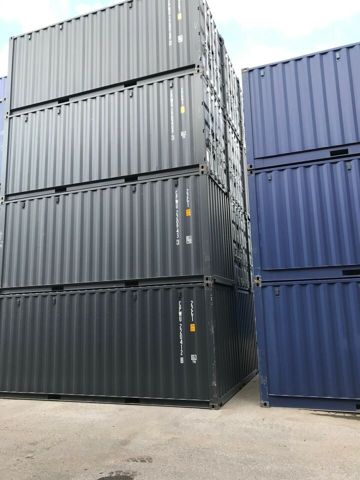 20 fods Skibscontainer   ny  blå /grå-sort