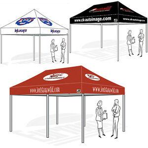 Image is loading Ez-Pop-Up-Canopy-Profession-Custom-Graphics-Logo-  sc 1 st  eBay & Ez Pop Up Canopy Profession Custom Graphics Logo Printed Shelter ...