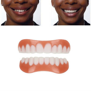Perfect Smile Comfort Fit Flex Teeth Veneers Cosmetic Snap Upper + Lower Teeth U