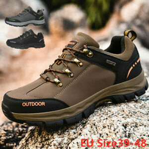 Men-039-s-Outdoor-Hiking-Trail-Running-Athletic-Athletic-Gym-Shoes-Jog-Brown-Black