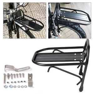 Alu-Vorne-Gepaecktraeger-Fahrradgepaecktraeger-Gepaeck-Halterung-Rahmen-Fahrradkorb