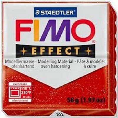 Fimo Effect Polymer Clay  - Glitter Red No 202
