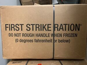 1 CASE MRE First Strike Ration INSP/TEST DATE 06/2022 Military Issue, New