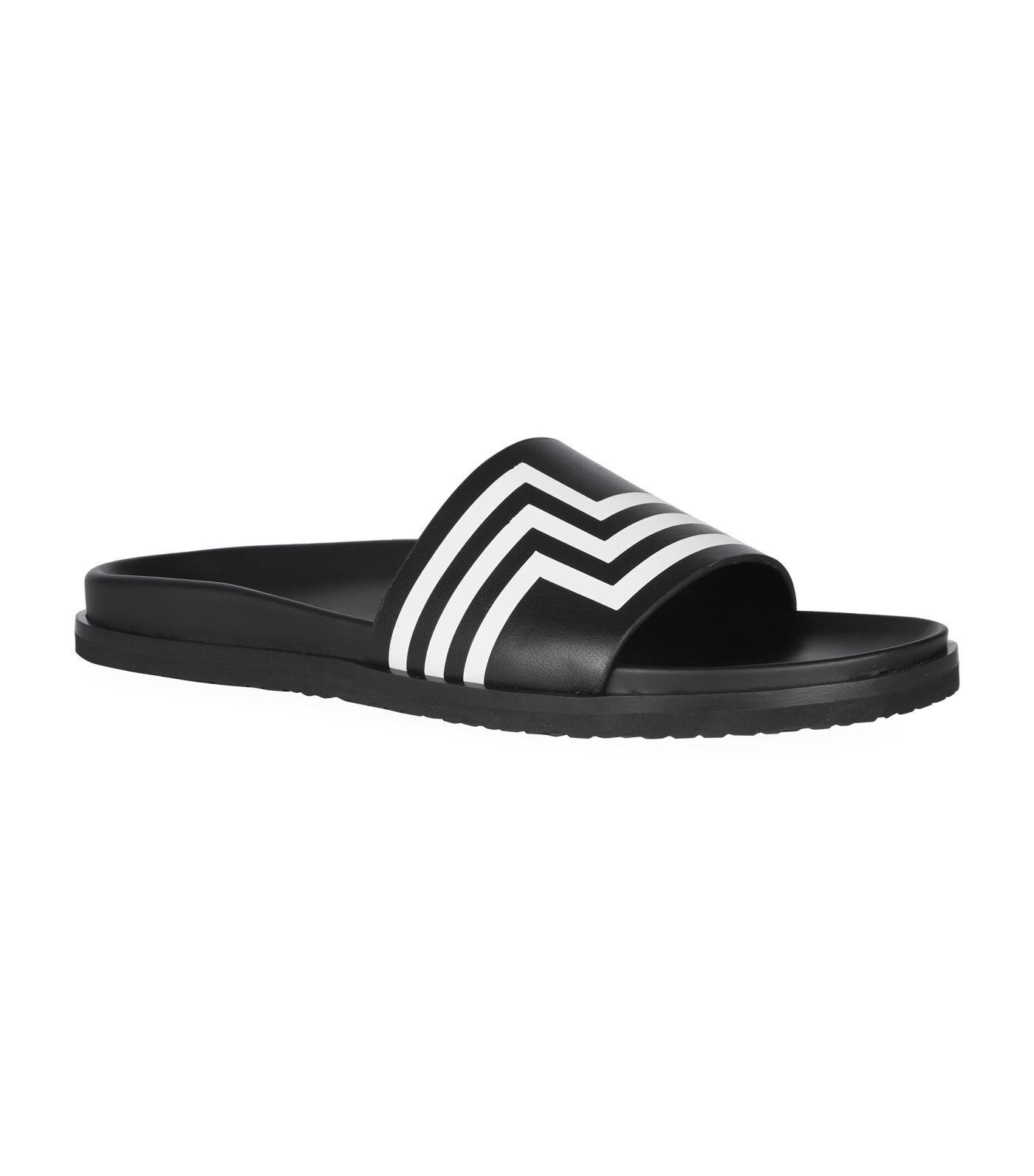 Ralph Lauren Lauren Lauren viola Label Massai Striped Leather Slides Sandals New  295 8f539e