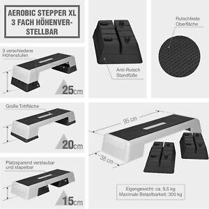 d73b855ccd775 Das Bild wird geladen Steppbrett-Aerobic-Fitness-Stepper-bis-300-KG-Gorilla-