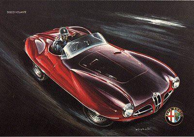 ALFA ROMEO DISCO VOLANTE CAR POSTER AA396 Poster Print Art A0 A1 A2 A3
