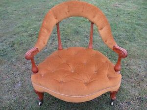 Lovely-Victorian-Walnut-showframe-button-upholstered-nursing-armchair-ref-1306