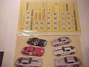 FERRARI-250-GT-SWB-LE-MANS-1961-1-43-DECALS-KIT