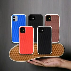New-Street-Waffle-brand-Soft-silicon-case-For-iphone-7-8-XS-11-Grid-Rubber-Cover