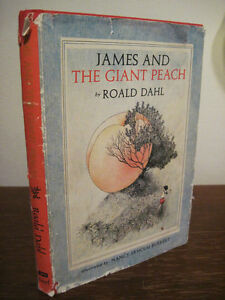 1st-Edition-JAMES-AND-GIANT-PEACH-Roald-Dahl-FILM-2nd-Printing-FICTION-Classic
