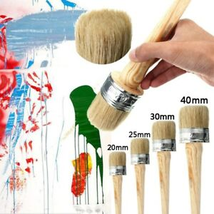 4PC-BRUSHES-40-30-25-20mm-PAINT-BRUSHES-SHABBY-CHIC-CHALK-WAX-PURE-BRISTLE
