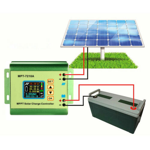 Contrôleur charge solaire MPPT chargeur batterie 36V 24V hors régulateur réseau