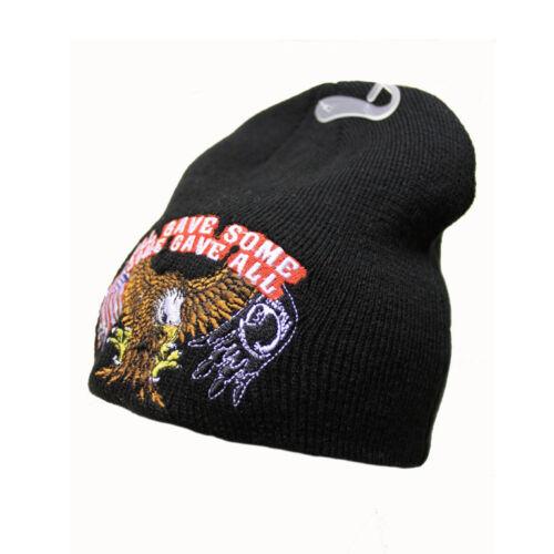 Biker moto usa eagle aigle pow mia Beanie Hiver Bonnet ski bonnet NEUF