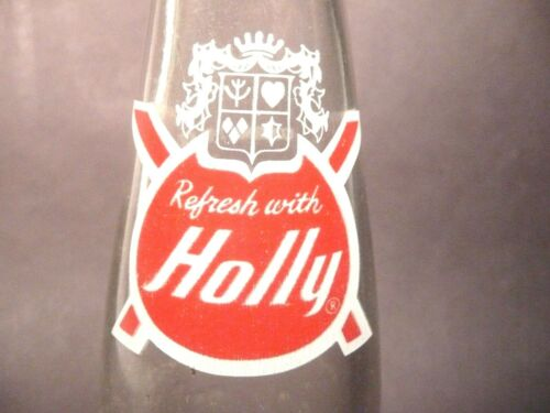 7 oz ACL vintage ACL Soda POP Bottle OHIO red label  HOLLY of YOUNGSTOWN