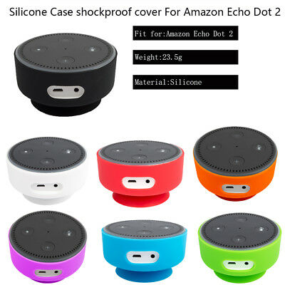 Silicone Protective Ultrathin Proof Sleeve Case Cover For Amazon Echo Dot 2nd US