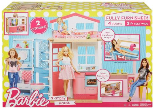Furniture and amp; Accessories Fold Girls Toys 2-Story Barbie House Playset