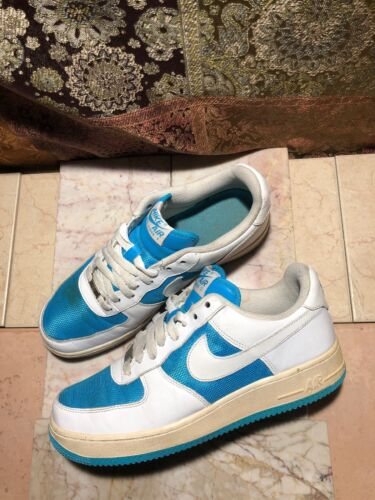 Nike Air Force 1 Xxv 315115 413 White Blue Men's Size 9.5 Us Vtg Sneakers Shoes by Nike