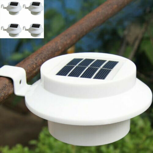 1//4//6//8 WHITE LED SOLAR POWER GARDEN LIGHTS GUTTER FENCE WALL OUTDOOR LIGHTING