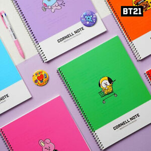 BTS-BT21-Official-Authentic-Goods-Cornell-Note-7Characters-By-Kumhong-Fancy