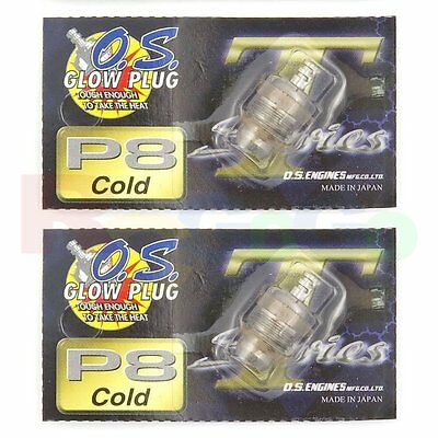 2PCS OS GLOW PLUG P8 TURBO COLD ON-ROAD # OS71641800 O.S. Engines Parts