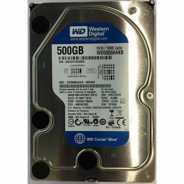 Western Digital 500GB, 7200RPM, IDE - WD5000AAKB-00H8A0