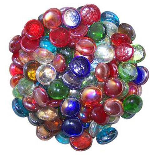 50 Mixed Colours Round Glass Pebbles Stones Beads Vase Home