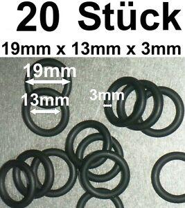 20-x-Anillo-O-junta-de-anillo-Anillo-Goma-19-x-13-x-3mm-OFERTA-ESPECIAL-QUIEBRA
