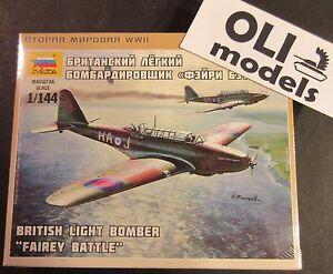 1//144-6218 Military Model Kit ZVEZDA British Light Bomber Fairey Battle Scale