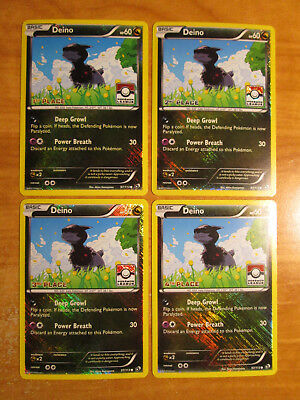 LP//NM COMPLETE Pokemon 1st//2nd//3rd//4 Place DEINO Card LEGENDARY TREASURES 97//113
