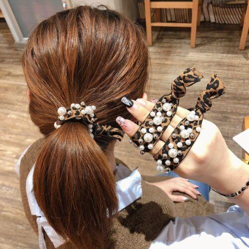 Women 1Pcs Pearl High-grade Elastic Hair Rubber Band Rope Ponytail Holder New