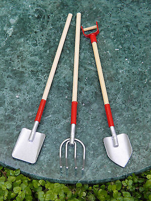 Miniature Dollhouse FAIRY GARDEN Accessories ~ Set of 3 TOOL Shovel Spade Fork
