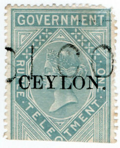 I-B-Ceylon-Telegraphs-Ceylon-on-India-1R-OP
