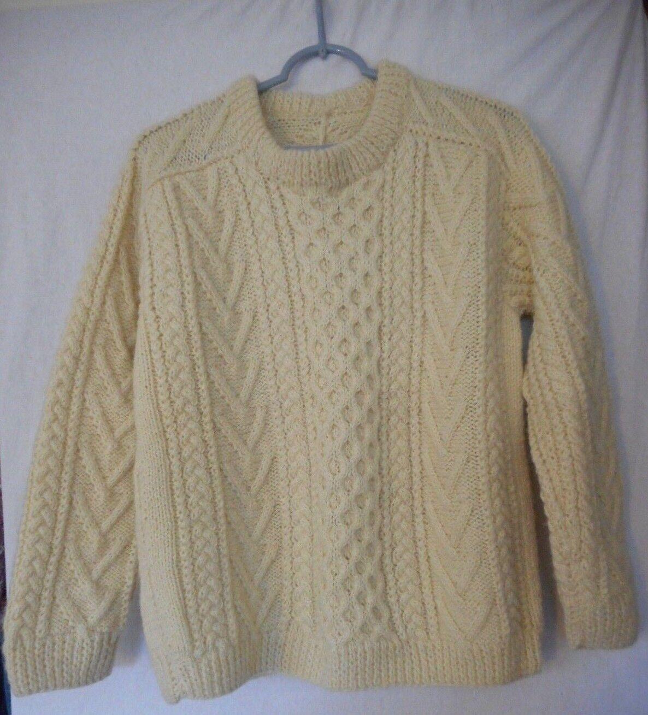 Aran Irish  wool knit sweater  no Größe tags