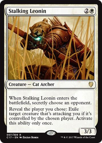 Stalking Leonin Commander 2017 Magic Lauernde Leonidin